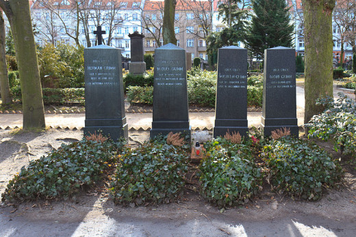 Graves of the Brothers Grimm at Alter St.-Matthäus-Kirchhof Berlin, photo taken in 2012