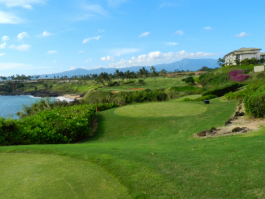 Can't go to Hawaii without playing an ocean course like Kauai Lagoons Golf Course.