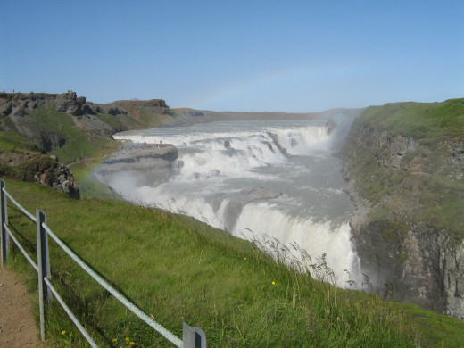 The Gullfoss waterfall in Iceland. One of the nations natural pearls.