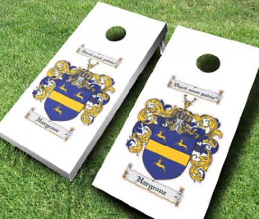 Family Crest Cornhole Boards