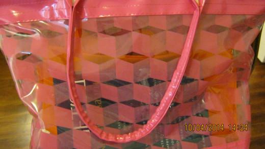Pink Vinyl Tote Bag