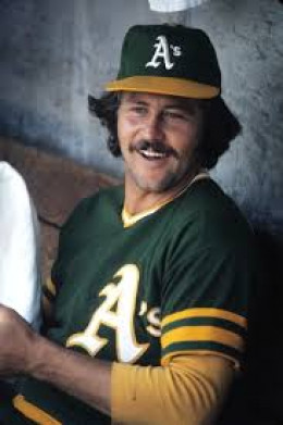 A young Catfish Hunter when he pitched for the Oakland A's.