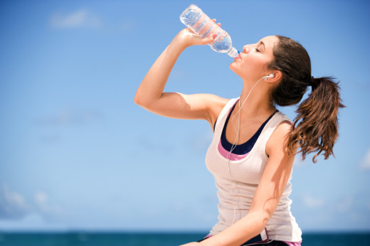 Drink at least 2 liters or 8 glasses of water every day.