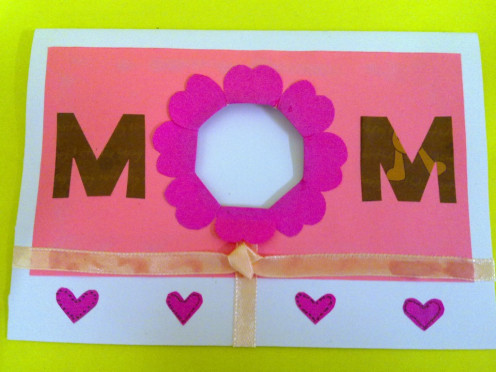 Use recycle items to make Mother's Day Card