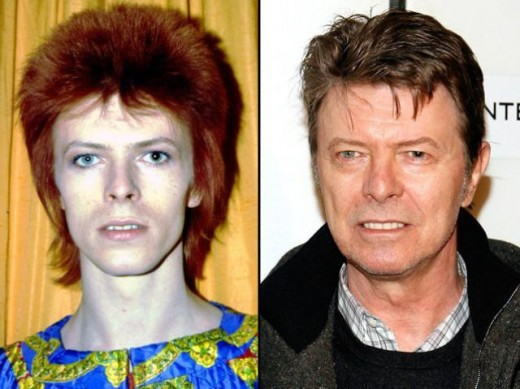 Bowie still looking like a Star Man, just older.