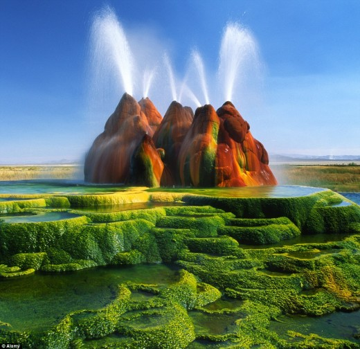Fly Geyser | A Look Back To Eden / The Pangaea