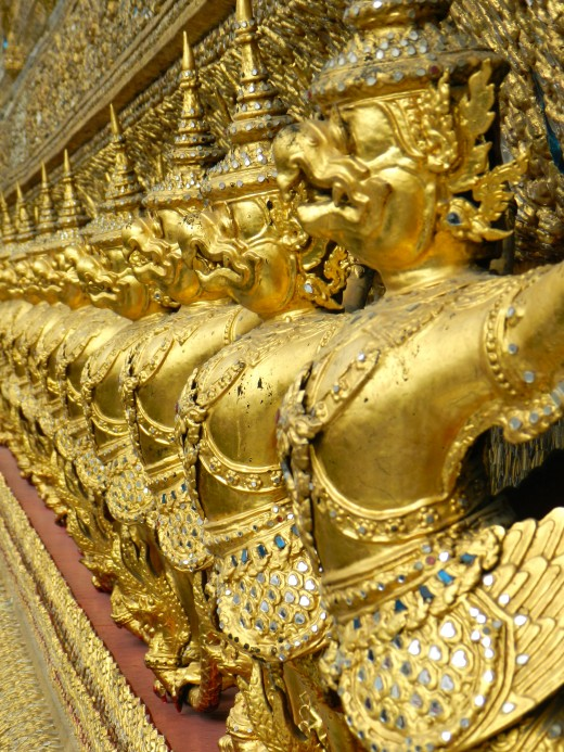 Gold means wealth and the King has the golden temples in Thailand