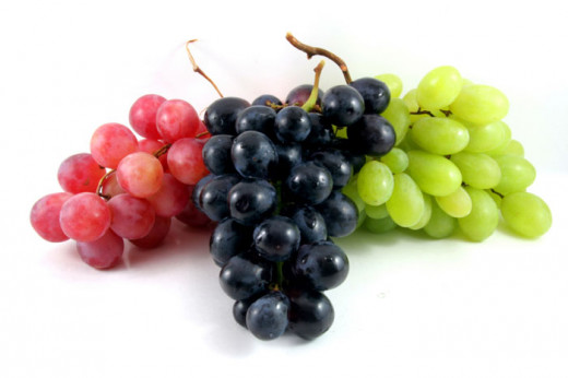 A selection of grapes