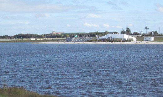 The rowing center at Nathan Benderson Park