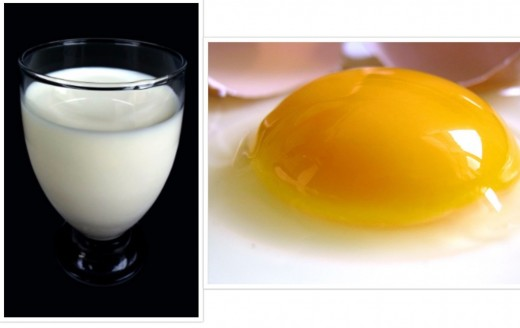 Milk and Egg, some ingredients that go into this dessert