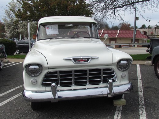 1955 White Chevrolet Cameo is owned by Maurice Ayers of West Chester, Pa.