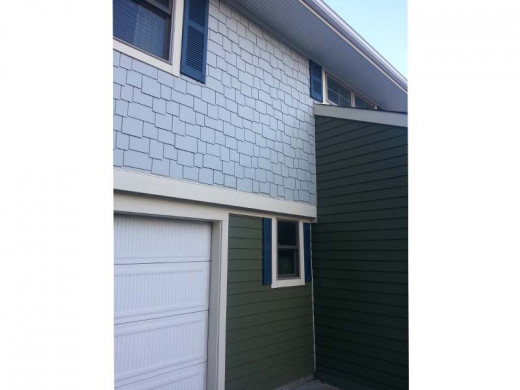 fiber cement vertical siding and shingle siding