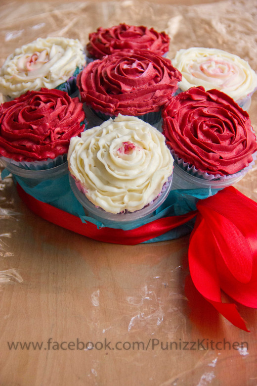 Bokay of cupcakes