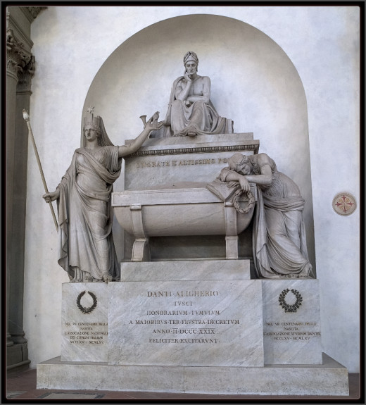 Dante Alighieri's tomb in Florence, Italy. I have actually been to the Basilica where this is located!