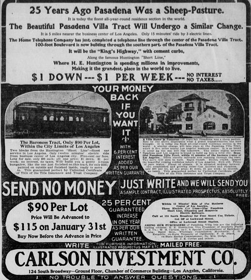 Los Angeles real estate ad (1905)