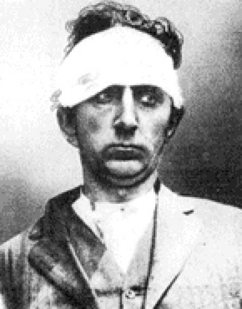 Erich Muenter AKA Frank Holt (1871-1915) in custody