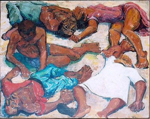 """Murder at Sharpeville"" - a painting by Godgrey Rubens"