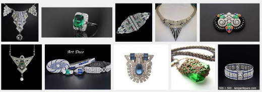 Examples of Art Deco Jewelry
