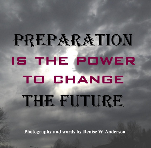 The preparation we engage in today will make a difference tomorrow.