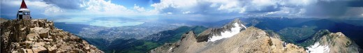 The view from Mt. Timpanogos.