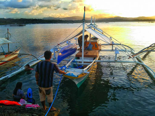 The solar lit banca is the talk of the fishing community here in Mangingisda, Palawan now.