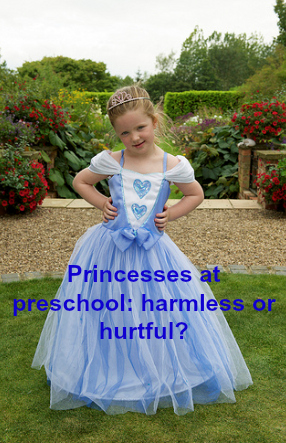 Wearing a princess gown and high heels to preschool turns girls into watchers, not doers.
