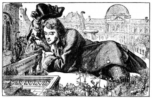 Gulliver among the Lilliputians, illustrated by J.J. Grandville for the 1856 edition.