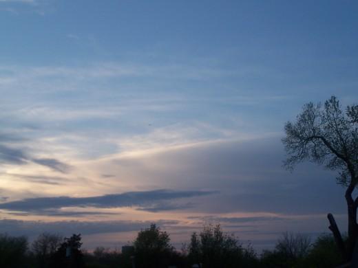 Azure skies at evening...