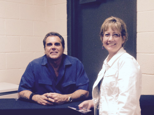 My Lovely Sister with Carman at the Muskogee Meet and Greet, No Plan B Tour.