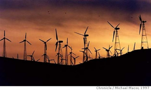 Wind turbines cases low frequency sound waves