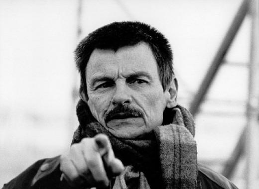 A photographic portrait of the soviet director Andrei Tarkovsky. Author: Festival de Cine Africano de Córdoba