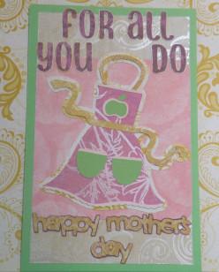 Homemade Mother's Day Card using a Cricut Machine