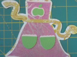 Apron Bottom & top layers of pockets, apple, and trim adhered