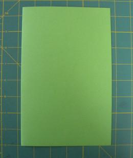 Base card cut and folded