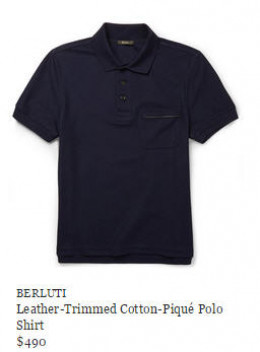 The Berluti Polo for $490