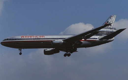 DC-10 shown in American Airlines livery in 1991. The DC-10 had an early history of safety hazards.