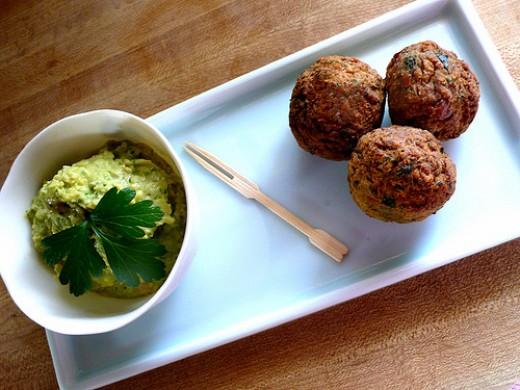 Hummus and Falafel at Evergreen Cafe
