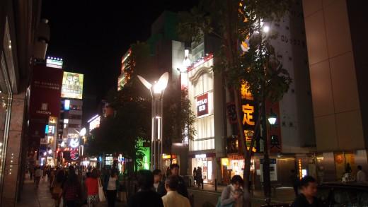 Tenjin area in Fukuoka City