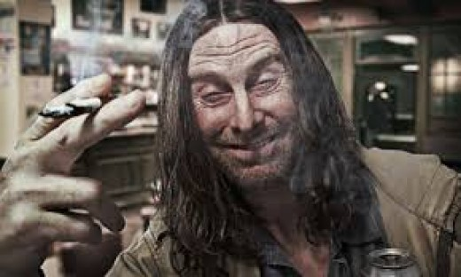 Frank Gallagher (David Threlfall). Be glad he's not your neighbor or, worse still, relative.