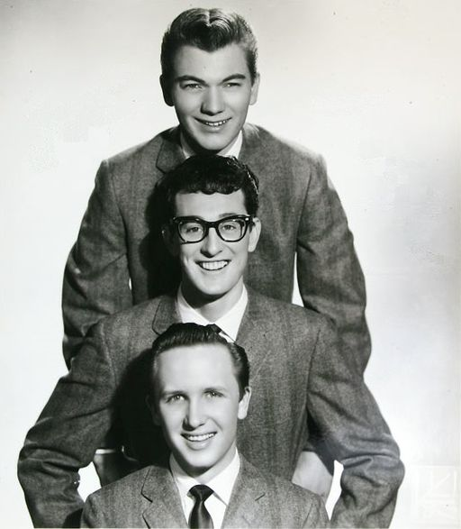 The Crickets: Jerry Allison, Buddy Holly, Joe B. Mauldin