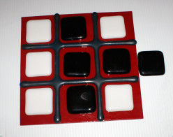 Fused Glass Project for Beginners - Tic-Tac-Toe
