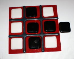 Tic-Tac-Toe  Game in Fused Glass