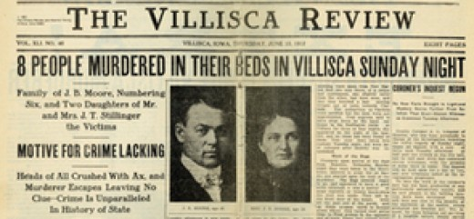 Thursday June 13, 1912 front page of The Villisca Review