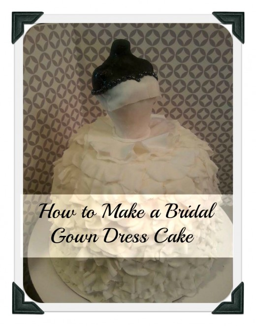 Learn how easy it is to make this Bridal Gown Cake.