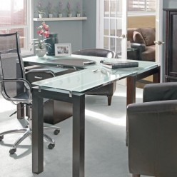 How to Design an Office Using Black Glass Desk Furniture
