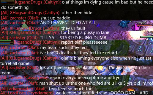 This is a GREAT example of what isn't fun to deal with in a game of League