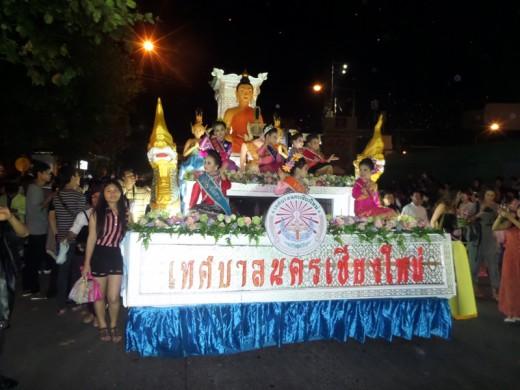 Decorated Yi Peng float