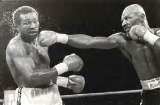 "Marvin Hagler knocked out ""The Beast"" in defense of his middleweight crown."