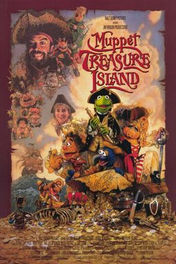 One of the posters for the movie Muppet Treasure Island.