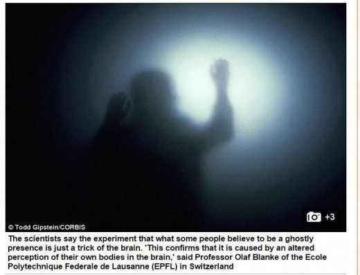 Neuroscientists show how to recreate ghosts by tricking the brain.